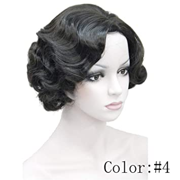 Amazon.com : 1920s Flapper Hairstyles for Women Finger Wave Wigs ...