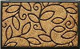 Home & More 100131830 Vine Leaves Doormat, 18'' x 30'', Natural/Black