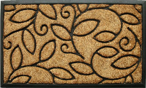 Home & More 100131830 Vine Leaves Doormat, 18'' x 30'', Natural/Black