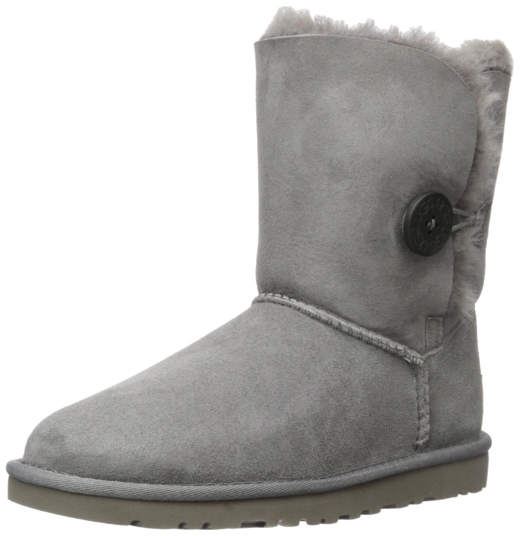 UGG Australia Womens Bailey Button Boots,Grey 5 USA
