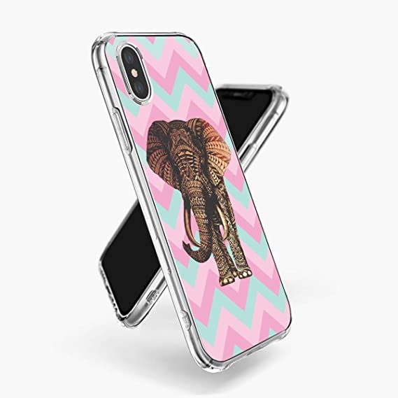 8d091bd022876 Amazon.com: Striped Elephant Phone case iPhone Xs Max Clear ...