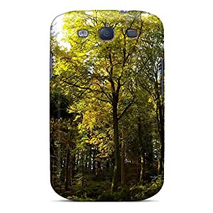 New AIO2195LMqR Pretty Green Forest Skin Case Cover Shatterproof Case For Galaxy S3