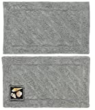 Ottomanson Ruby Collection 100% Pure Cotton Luxury Bath Rug, Set of 17 X 24, Set of-17''X24''/20''X31'', Grey