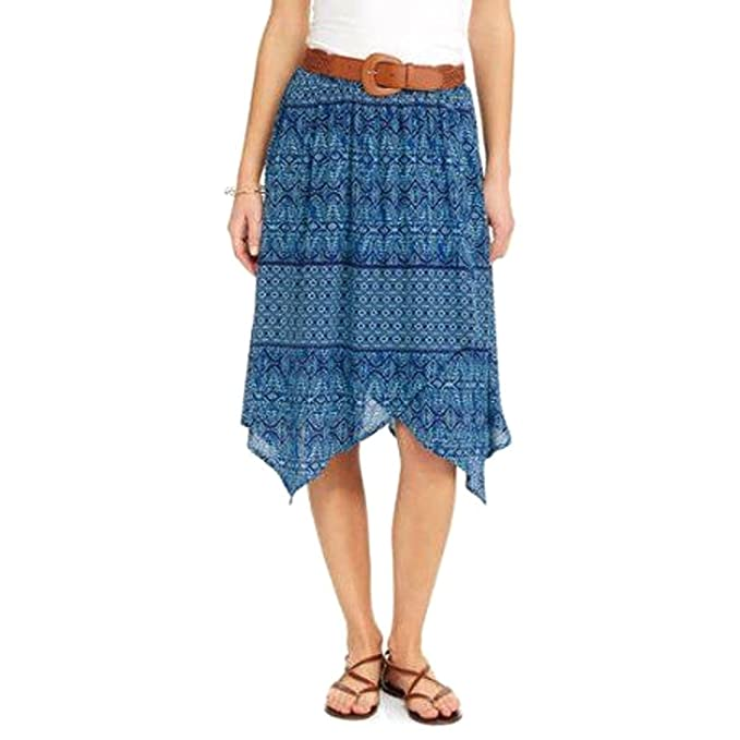 8b326ea79 Image Unavailable. Image not available for. Color: Faded Glory Women's Knee  Length Woven Skirt ...