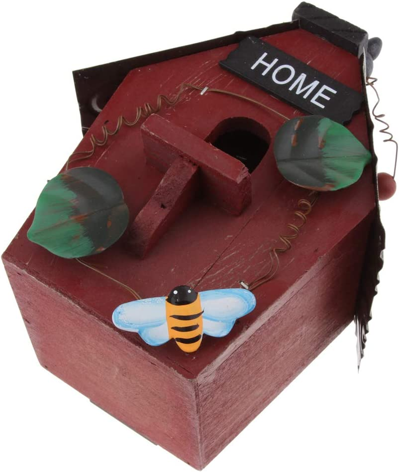 Housewarming Gifts Rural Style FLAMEER Decorative Hanging Bird House A Yard Insect Hotel for Garden Balcony