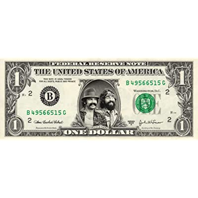 CHEECH & CHONG on a Real Dollar Bill Collectible Cash Money Rare Mint $1: Everything Else
