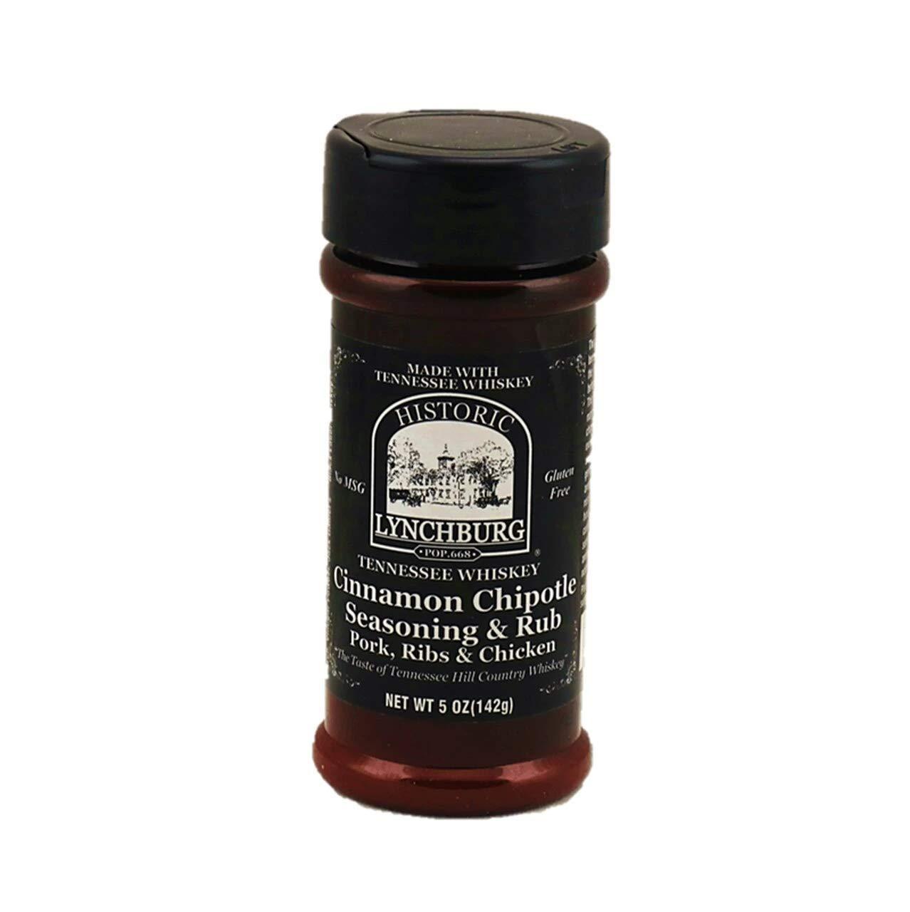 Historic Lynchburg Tennessee Whiskey Cinnamon Chipotle Seasoning & Rub 5 Oz. Jar