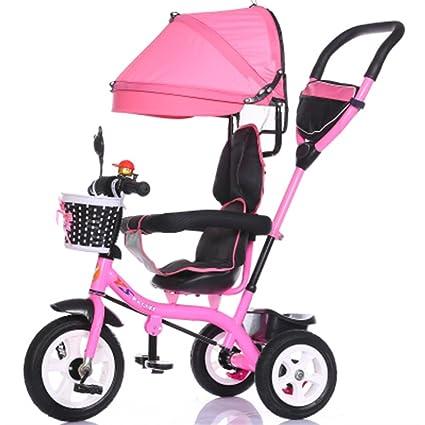 Multifunción de lujo 4 en 1 Triciclo de niño Bicicleta de niño Bicicleta de niña en
