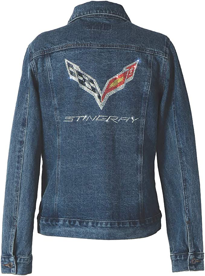 C7 Stingray X-Large Corvette Denim Button-Down Shirt