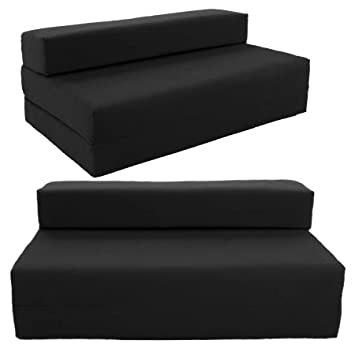 Gilda Double Sofa bed futon Black IndoorOutdoor Stain
