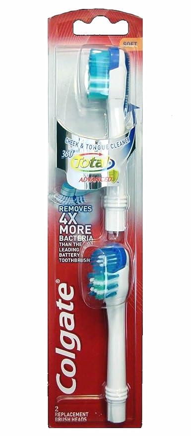De la batería Colgate 360 - suave de cepillo de dientes especial para cabezales de repuesto
