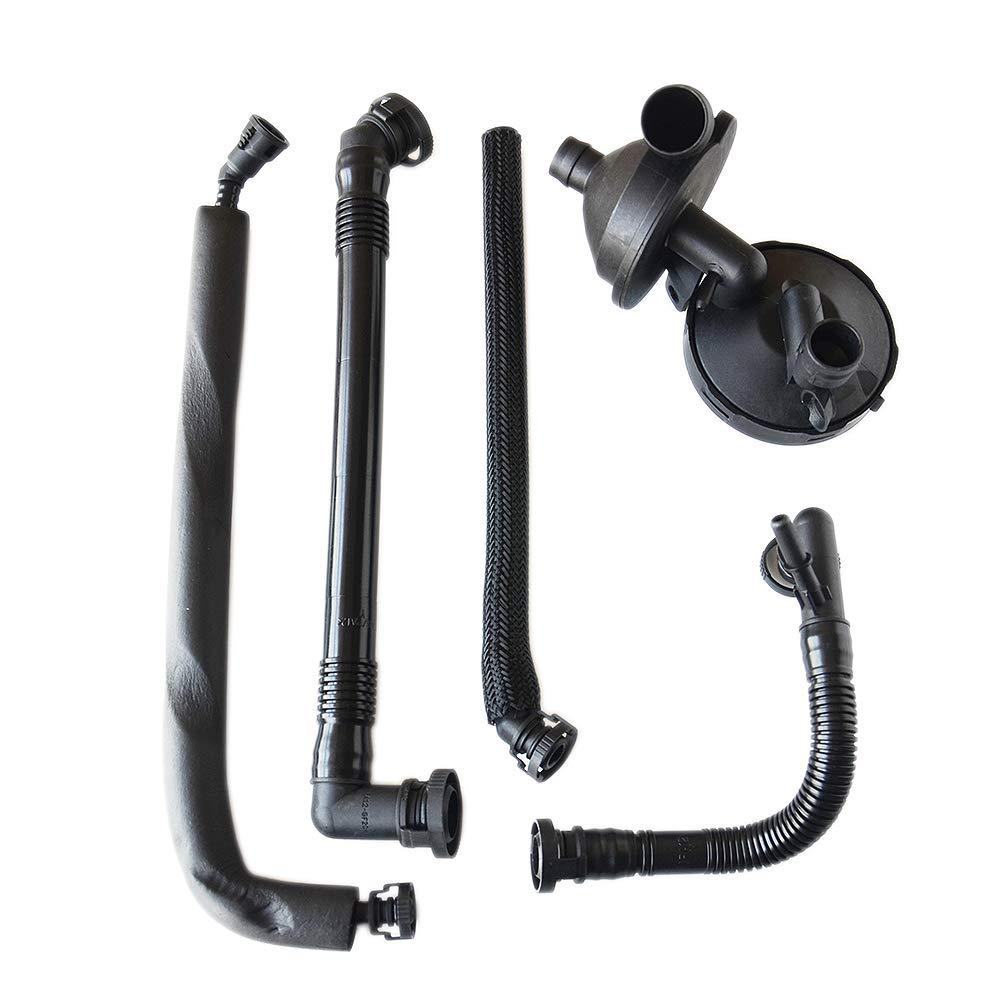 PCV Crankcase Vent Valve + Breather Hose Kit For BMW 3 5 7 Series E46 E39 E60 E61 11157532649 11617504536 by NEWZQ