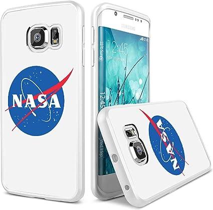 Coque,Nasa Logo 2 Coque Samsung Galaxy S6 Edge Case blanc: Amazon ...