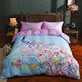 CONTONTING Kids Bedding Girls, Children's Cotton Duvet Cover Set, Bedding for Girls Boys, Full Size 4pcs (001)