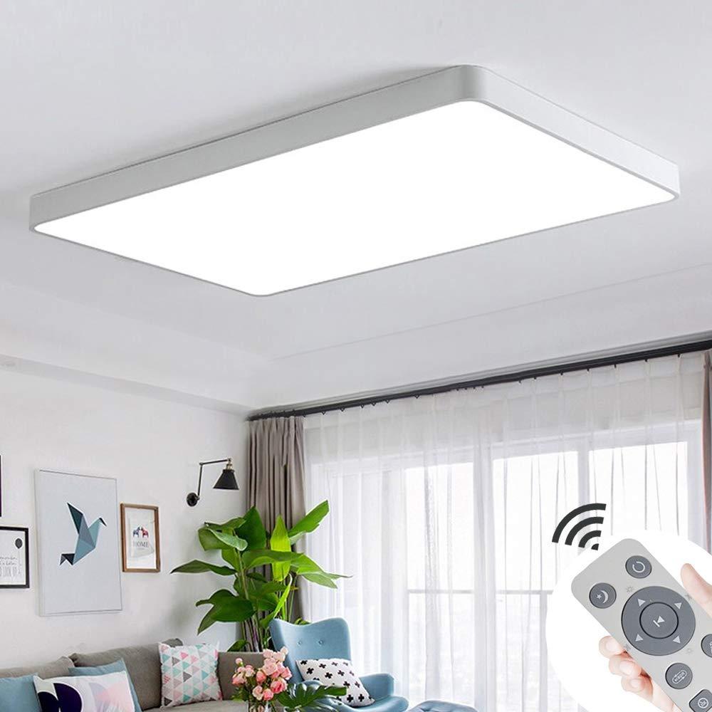 COOSNUG LED Deckenleuchte 60W Dimmbar Schwarz Quadrat Deckenlampe Wohnzimmer Mit Fernbedienung Wandlampe Leuchte
