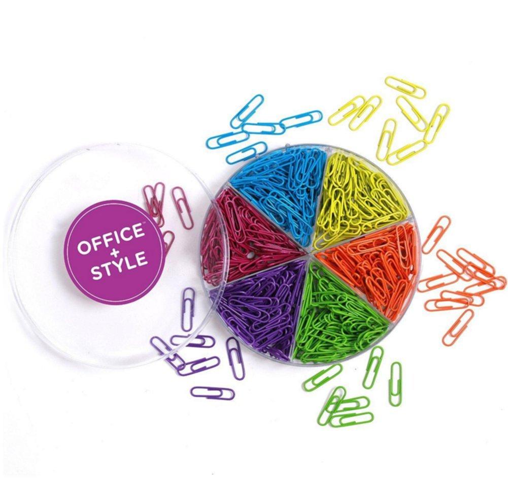 Gespout Parati Graffette Mollette di Plastica Colorate Placcato Metallo Graffette per Casa a Scuola o in Ufficio 50 mm 300 pezzi Colore Casuale