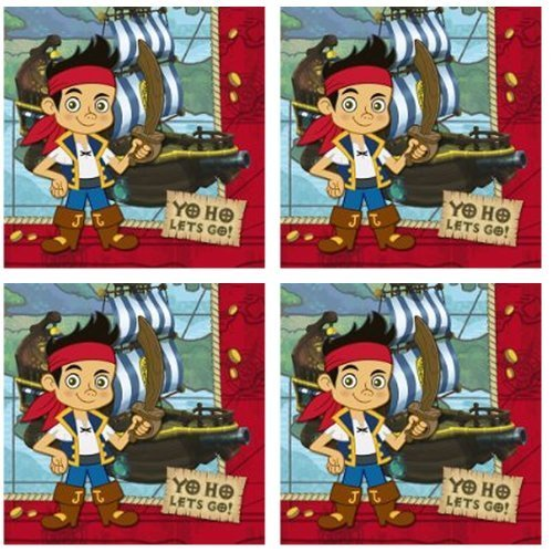 Jake and the Neverland Pirates Luncheon Napkins - 48 Pieces (Napkins Pirate Luncheon Party)