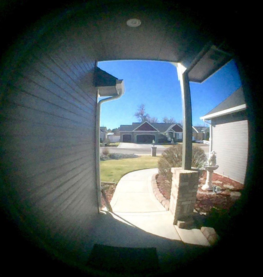 28mm entre les Trous pour l/'/épaisseur de Porte 42-55mm(Cuivr/é Rouge,Grand) Vision de 220 Degr/és Sumnacon Judas de Porte avec le Cache S/écurit/é pour la Porte de Maison//Bureau