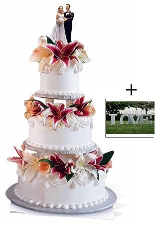 Hochzeit Pack Glamorous Hochzeitstorte Gross Pappfiguren