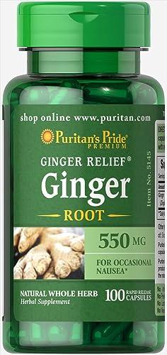 Puritan s Pride Ginger Root 550 mg-100 Capsules