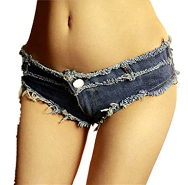 55e2e075ceaf NW Women's Low Waist Sexy Denim Short Hot Pants Sexy Mini Jeans Shorts -  Blue -
