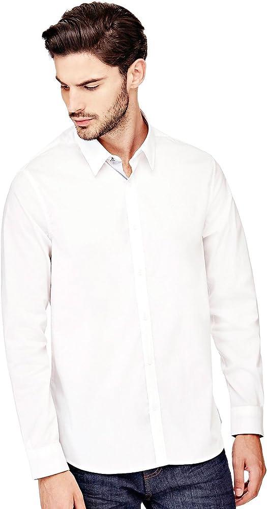 Guess Camisa Blanca de Hombre Venice (XL - Blanco): Amazon.es: Ropa y accesorios