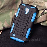 Galaxy S4 Active Case, Cocomii® [HEAVY DUTY] Galaxy S4 Active Robot Case **NEW** [ULTRA FUTURE ARMOR] Premium Belt Clip Holster Kickstand Bumper Case - Full-body Rugged Protective Cover for Samsung Galaxy S4 Active (Black/Blue) ★★★★★