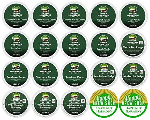 20-be sure of GREEN MOUNTAIN FLAVORED COFFEE Variety Sampler Pack, Single-Serve Cups for Keurig-Compatible Brewers