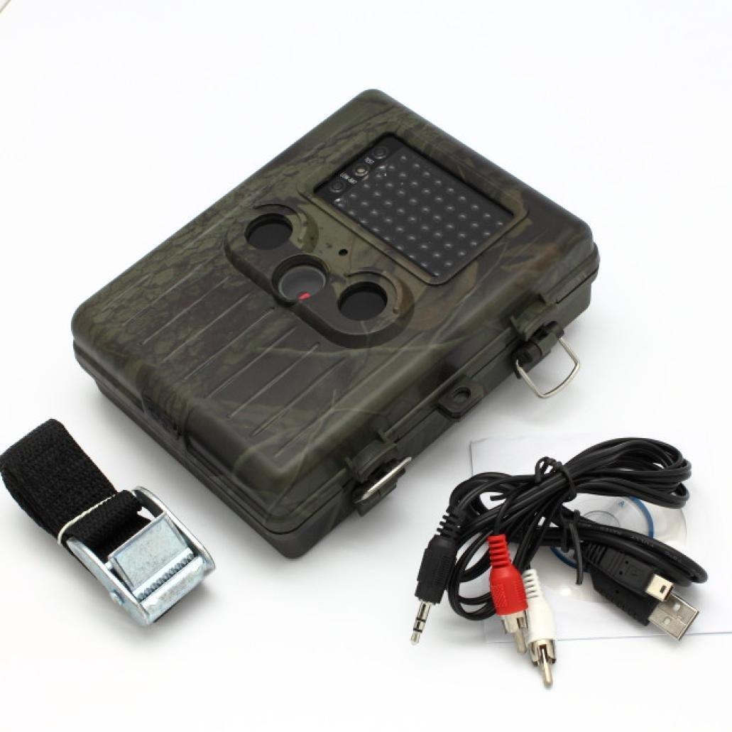 Dreamyth HT-002AA 2.5-inch LCD 5MP HD Digital Trail Hunting Camera with Dual PIR Durable (Army green)