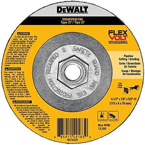 4-1//2 x 1//4 x 5//8-11 DEWALT DWAFV84514H FLEXVOLT T27 Cutting//Grinding Wheel