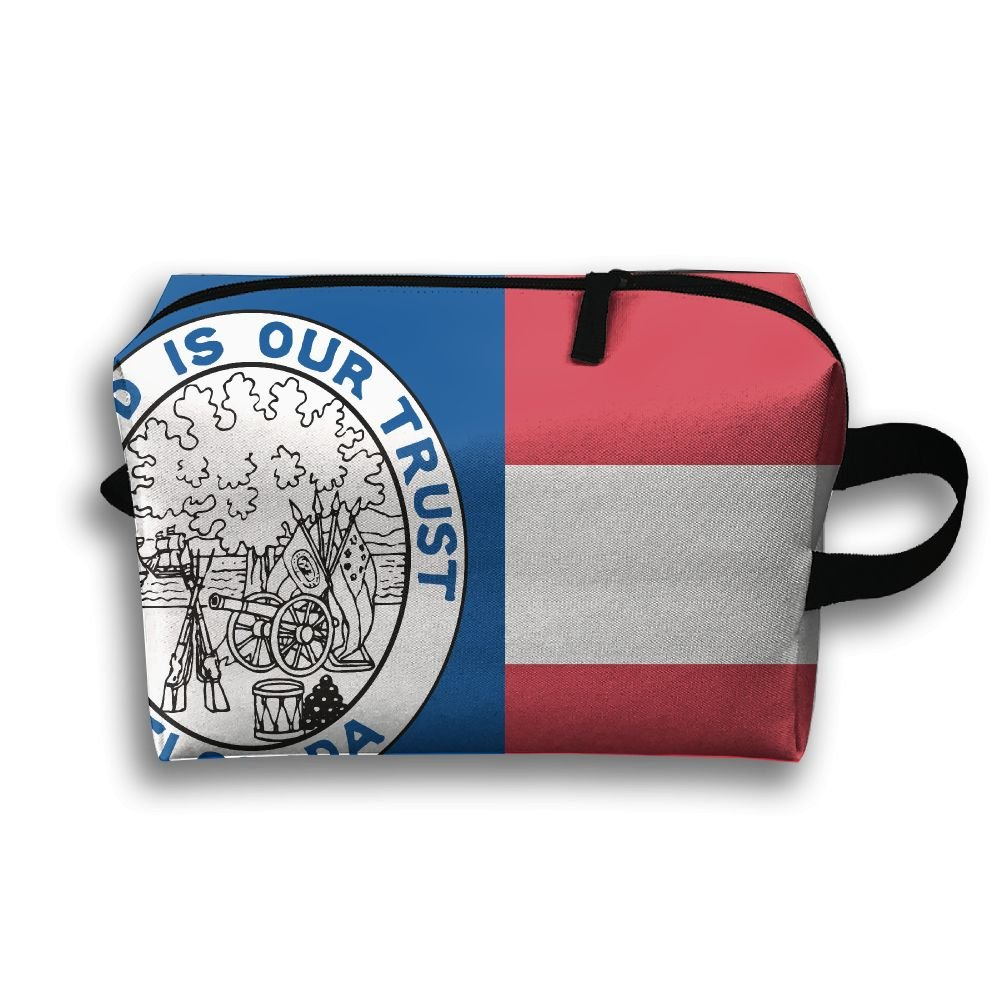 Pengyong フロリダ州の旗 小さな旅行用洗面用品バッグ 超軽量 トイレタリーオーガナイザー 夜間の旅行用バッグ B07BPYFRZW