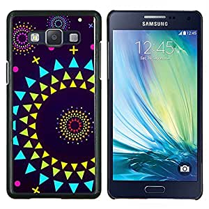 Dragon Case - FOR Samsung Galaxy A5 A5000 A5009 - sun planets abstract polygon art purple - Caja protectora de pl??stico duro de la cubierta Dise?¡Ào Slim Fit