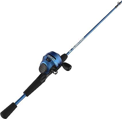 Amazon Com Quantum Zebco 202 Slingshot Spincast Combo 2 8 1 Gear Ratio 5 6 Length 2pc 6 10 Lb Line Rate Blue Right Hand Slscbl562mla Ns5 Sports Outdoors
