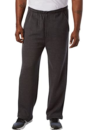 Amazon.com  KingSize Men s Big   Tall Fleece Zipper Fly Pants  Clothing 67b0e3216c082