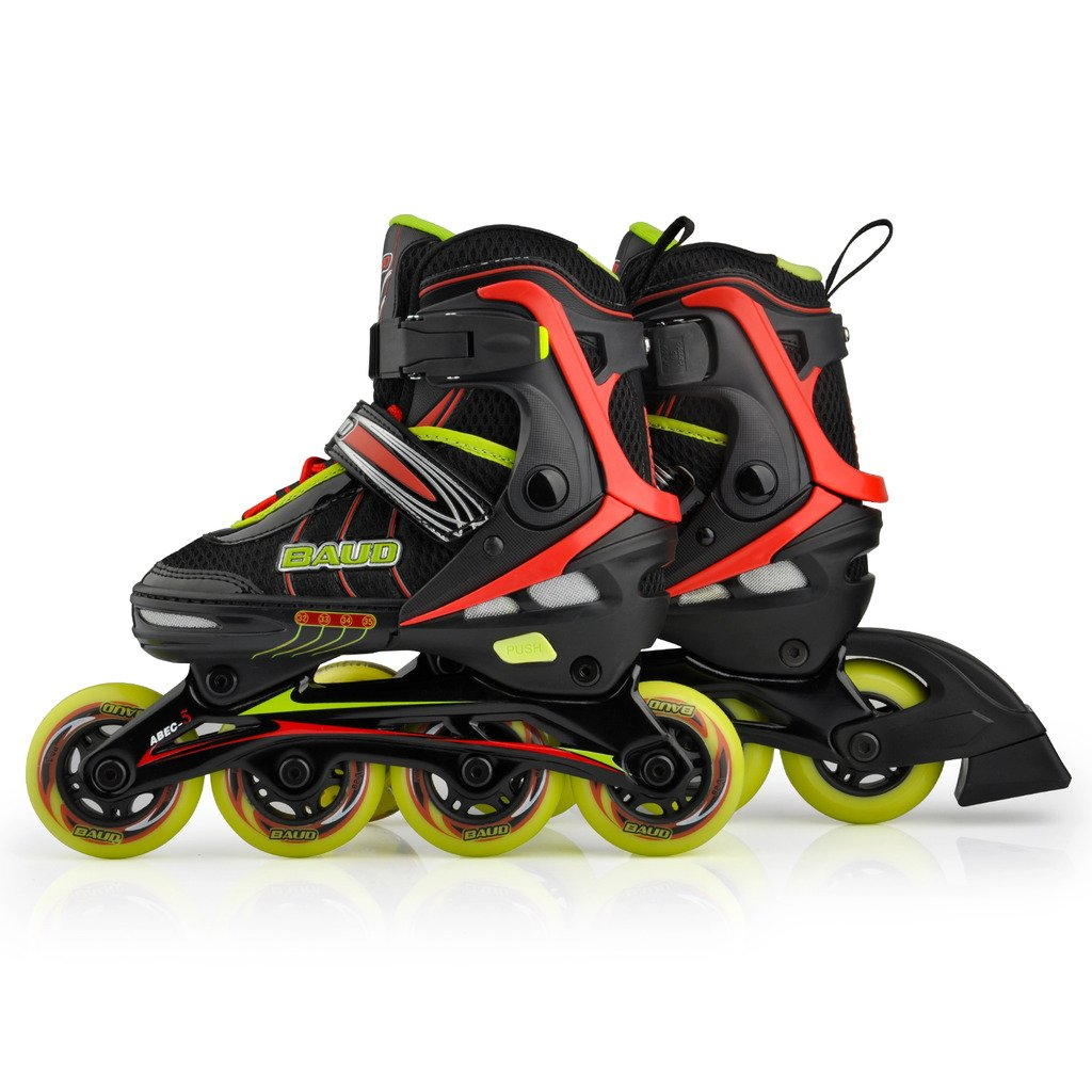 Roller skates adjustable - Amazon Com Rollerblade For Kid S Adjustable Boys Girls Inline Skate Abec 5 Different Sizes And Colors Black S 11 13 Sports Outdoors