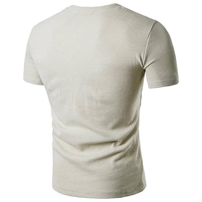 CHENGYANG Herren Sommer Einfarbig T-shirt mit Tasche Casual Kurzarm Tops  Bluse: Amazon.de: Bekleidung