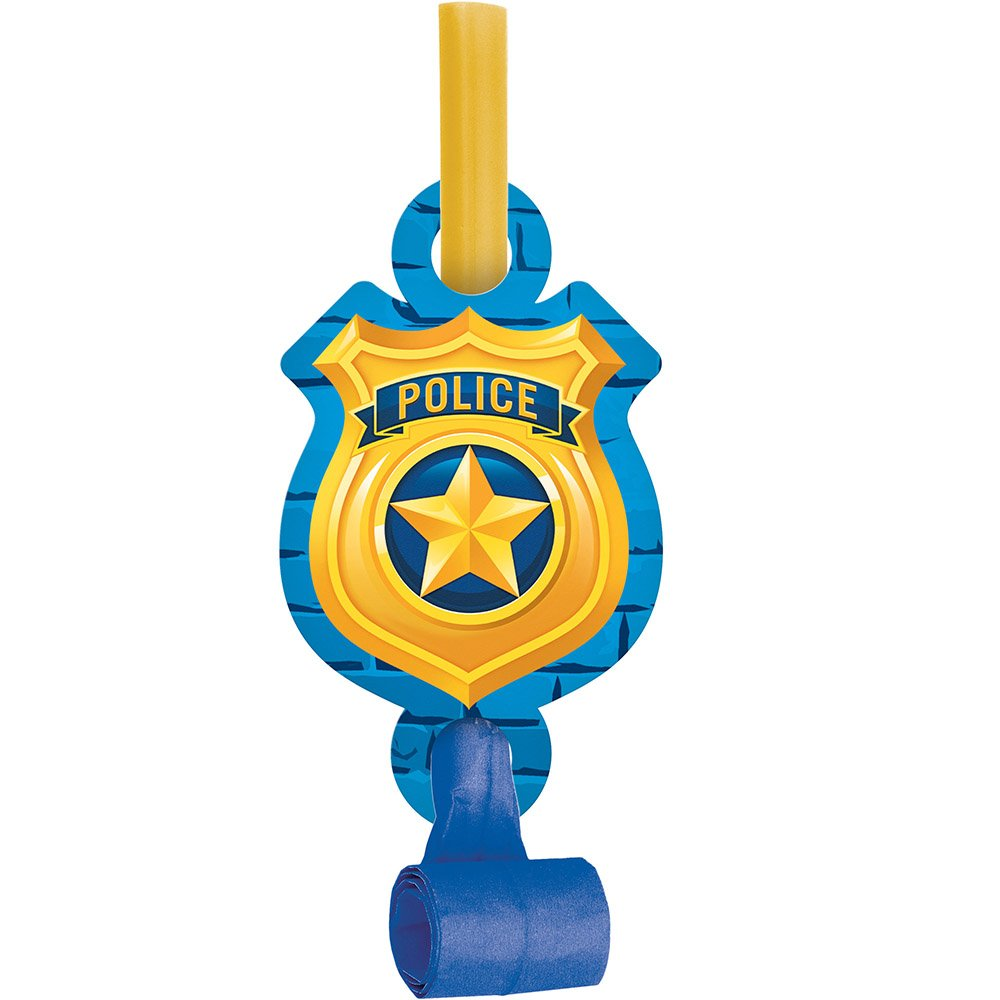 Creative Converting 329278 Police 48-Count Blowout Party Favors