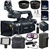 Canon XF405 Camcorder 2212C002 + 64GB SDXC Class 10 Memory Card + SD Card USB Reader + BP-820 Replacement Lithium Ion Battery + External Rapid Charger + 58mm 3 Piece Filter Kit + Condenser Mic Bundle