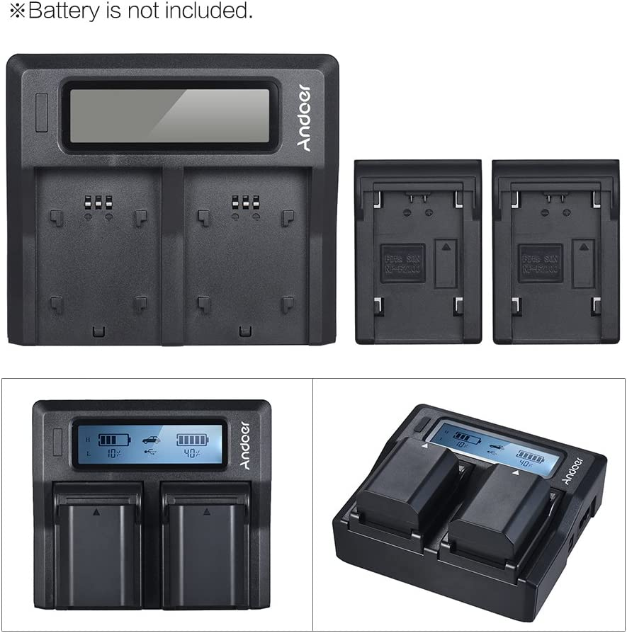 Andoer Camera Battery Charger NP-FZ100 Dual Channel LCD Charger ...