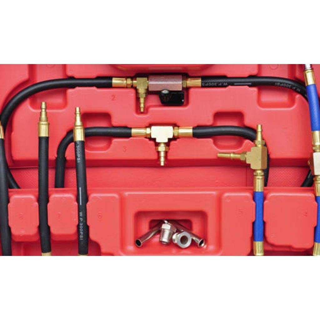 Tidyard Fuel Injection Pressure Test Kit Petrol and Diesel Fuel Pump Pressure Tester//Meter 0,03 to 8 bar 0,5-120 PSI