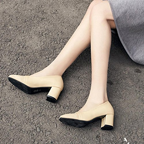 TPulling Herbst Und Winter Frühling Modelle Schuhe Mode Damen Frühlingsschuhe Mit Dicken Schuhen, Flache Mundarbeitsschuhe Wärme Outdoor Booties Ankle Lässige Schuhe Martin Stiefe Khaki