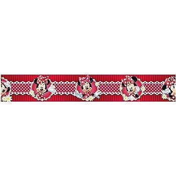 Minnie Mouse Polka Dot Red Self Adhesive Wallpaper Border 5m