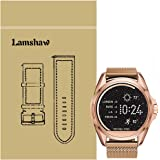 Lamshaw Milanese Magnetic Loop Stainless Stee Rplacement Straps for Michael Kors Smartwatch (Milanese_Rose Gold)