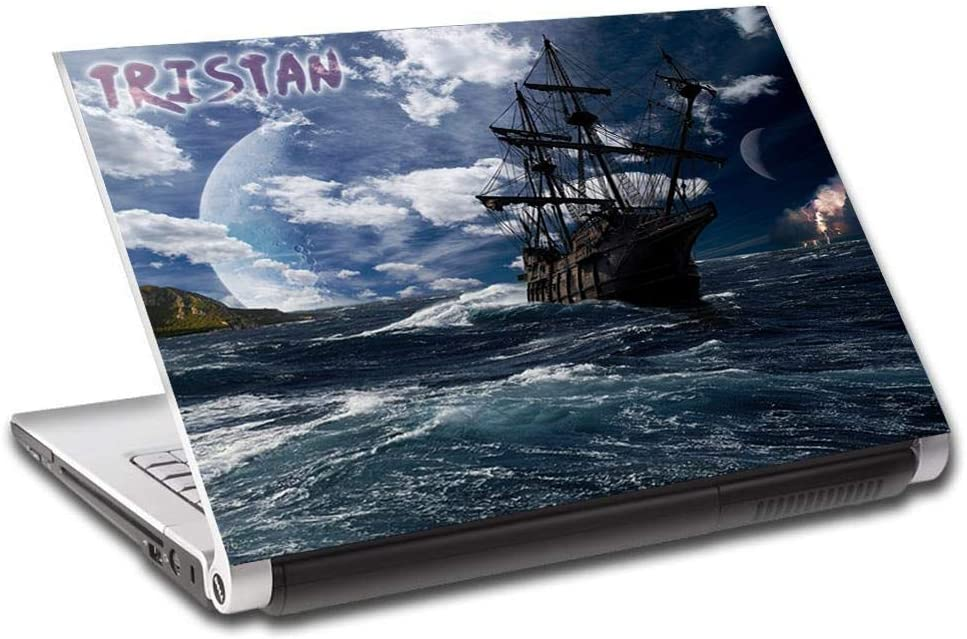 """Pirate Ship Fantasy Personalized LAPTOP Skin Cover Decal Vinyl Sticker L806, 15.4"""""""