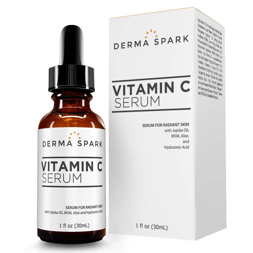 Vitamin C Serum For Face | With Hyaluronic Acid, Jojoba, Vitamin E & MSM | Natural Anti Aging Facial Serum | Best Wrinkle Facial Serum | Skin Repair | 1 FL OZ