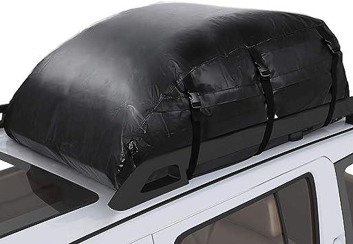 Pujuas Auto Dachbox 580l Faltbare Dachtasche Wasserdicht Auto Dachkoffer Gepäckbox Tragbar Dachboxen Dachgepäckträger Tasche Für Reisen Und Gepäcktransport Schwarz Auto