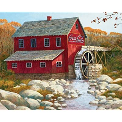 Springbok Coca Cola The Old Grist Mill 1500 Piece Jigsaw Puzzle By Springbok