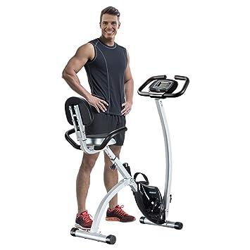 Feierdun Bicicleta estática vertical plegable (– Bicicleta estática magnética para gimnasio en casa