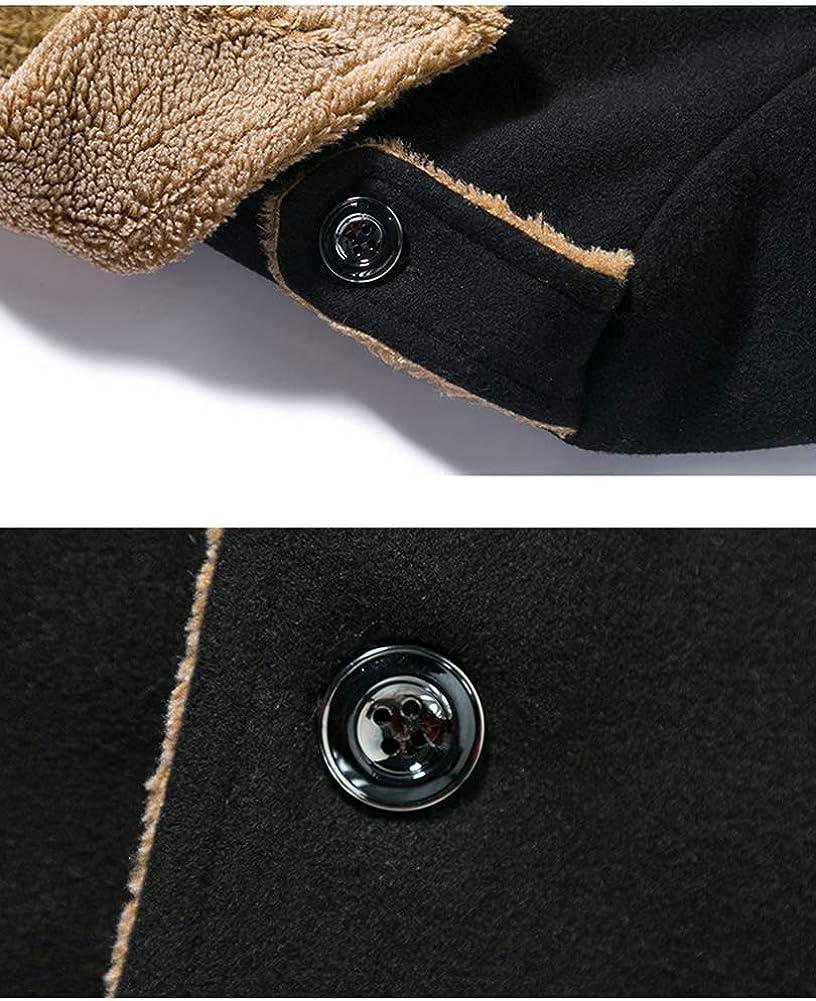Idopy Men`s Winter Fleece Lined Military Wool Pea Coat Jacket Outerwear