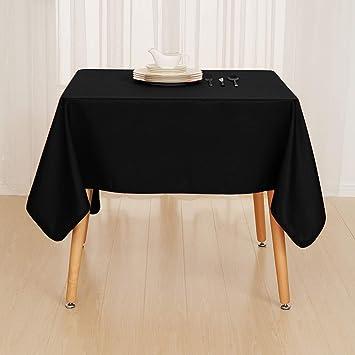 Deconovo Nappe Noir Rectangulaire Decoration Exterieur Impermeable ...